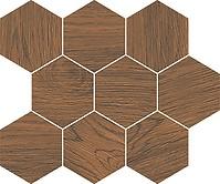 Cersanit Lovely White finwood ochra mosaic hexagon mozaik 28x33,7 cm