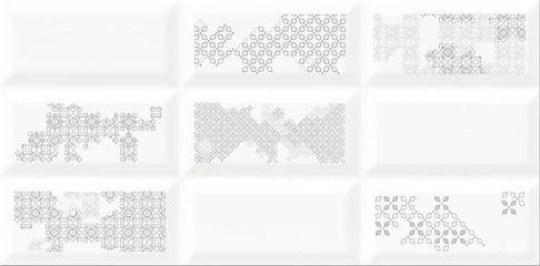 Cersanit naris inserto patchwork dekorcsempe 29,7x60 cm