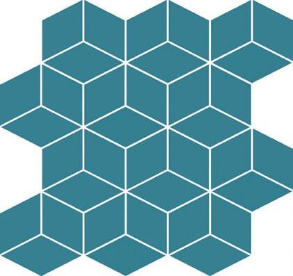 Cersanit colour blink mosaic diamond turquoise mozaik 28x29,7 cm