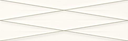 Cersanit gravity white silver inserto satin dekorcsempe 24x74 cm