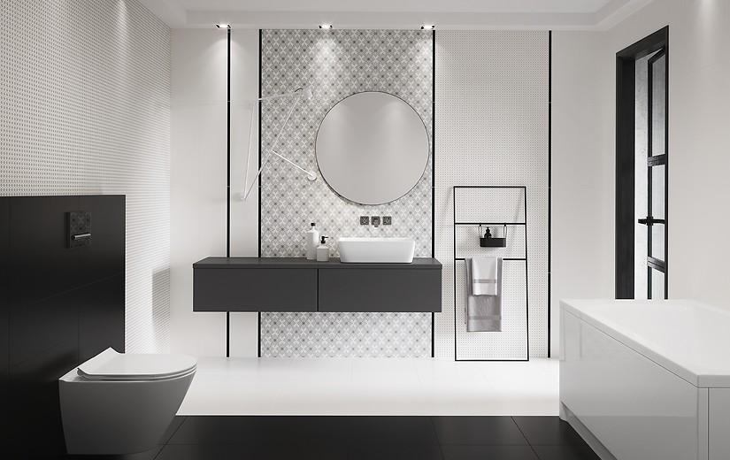 Cersanit black and white 01