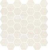 Bantu cream hexagon small mosaic glossy 29x29,7 cm mozaik