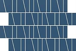 Zambezi blue trapeze mosaic matt 20x30 cm mozaik