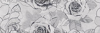 Snowdrops inserto flower 20x60 cm dekorcsempe