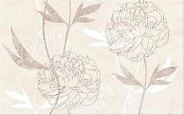 Ferrata beige inserto flower 25x40 cm dekorcsempe