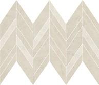 Manzila beige chevron mix mosaic matt 25,5x29,8 cm mozaik